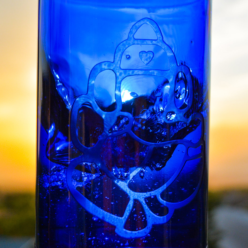 Ganesh Blue Bottle Love